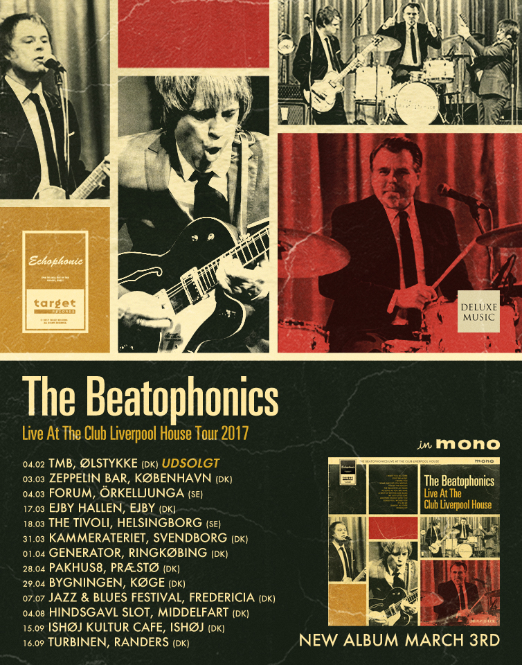 The stomping, wailing exciting and dynamic mod beat sounds of The Beatophonics – in true mono!